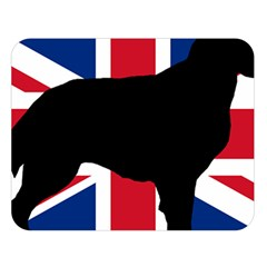 Flat Coated Retriever Silo England United Kingdom Double Sided Flano Blanket (Large)