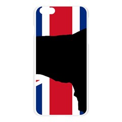 Flat Coated Retriever Silo England United Kingdom Apple Seamless iPhone 6 Plus/6S Plus Case (Transparent)