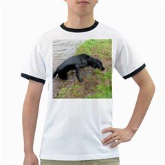 Flat Coated Retriever Wet Ringer T-Shirts