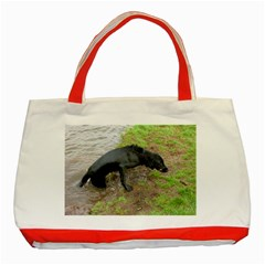 Flat Coated Retriever Wet Classic Tote Bag (Red)