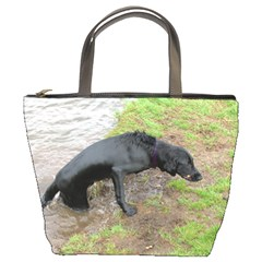 Flat Coated Retriever Wet Bucket Bags