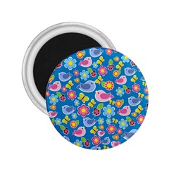 Spring pattern - blue 2.25  Magnets