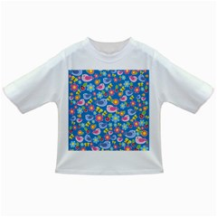 Spring pattern - blue Infant/Toddler T-Shirts