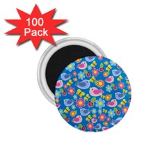 Spring pattern - blue 1.75  Magnets (100 pack)
