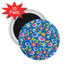 Spring pattern - blue 2.25  Magnets (10 pack)