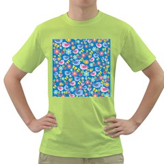Spring pattern - blue Green T-Shirt