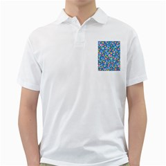 Spring pattern - blue Golf Shirts