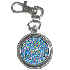 Spring pattern - blue Key Chain Watches
