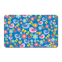 Spring pattern - blue Magnet (Rectangular)