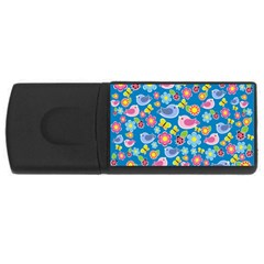 Spring pattern - blue USB Flash Drive Rectangular (1 GB)