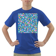 Spring pattern - blue Dark T-Shirt
