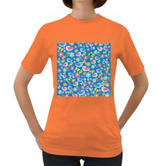 Spring pattern - blue Women s Dark T-Shirt