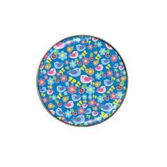 Spring pattern - blue Hat Clip Ball Marker