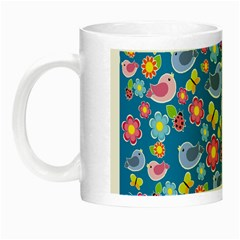 Spring pattern - blue Night Luminous Mugs