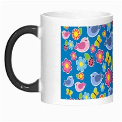 Spring pattern - blue Morph Mugs