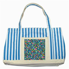 Spring pattern - blue Striped Blue Tote Bag