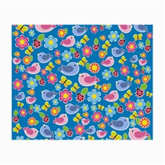 Spring pattern - blue Small Glasses Cloth (2-Side)