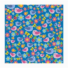 Spring pattern - blue Medium Glasses Cloth