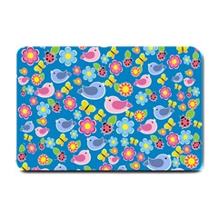 Spring pattern - blue Small Doormat
