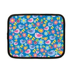 Spring pattern - blue Netbook Case (Small)