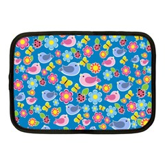 Spring pattern - blue Netbook Case (Medium)
