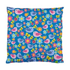 Spring pattern - blue Standard Cushion Case (Two Sides)