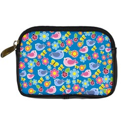 Spring pattern - blue Digital Camera Cases