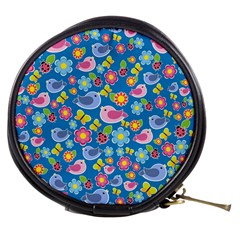 Spring pattern - blue Mini Makeup Bags