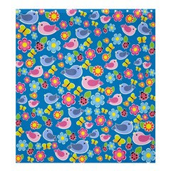 Spring pattern - blue Shower Curtain 66  x 72  (Large)