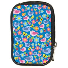Spring pattern - blue Compact Camera Cases