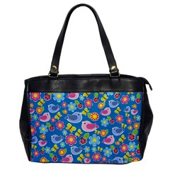 Spring pattern - blue Office Handbags