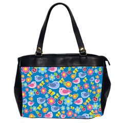 Spring pattern - blue Office Handbags (2 Sides)