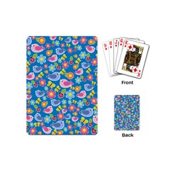 Spring pattern - blue Playing Cards (Mini)