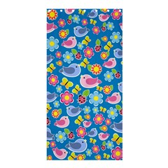 Spring pattern - blue Shower Curtain 36  x 72  (Stall)