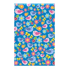 Spring pattern - blue Shower Curtain 48  x 72  (Small)