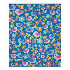 Spring pattern - blue Shower Curtain 60  x 72  (Medium)