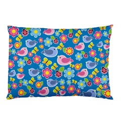 Spring pattern - blue Pillow Case (Two Sides)