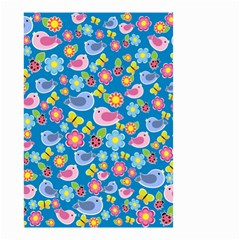 Spring pattern - blue Small Garden Flag (Two Sides)