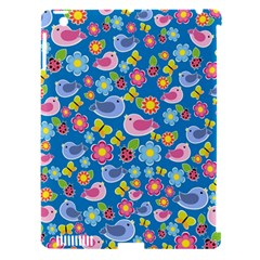 Spring pattern - blue Apple iPad 3/4 Hardshell Case (Compatible with Smart Cover)