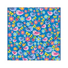 Spring pattern - blue Acrylic Tangram Puzzle (6  x 6 )
