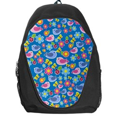 Spring pattern - blue Backpack Bag