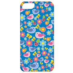 Spring pattern - blue Apple iPhone 5 Classic Hardshell Case