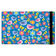 Spring pattern - blue Apple iPad 2 Flip Case