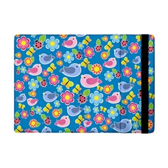 Spring pattern - blue Apple iPad Mini Flip Case