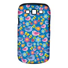 Spring pattern - blue Samsung Galaxy S III Classic Hardshell Case (PC+Silicone)