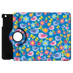 Spring pattern - blue Apple iPad Mini Flip 360 Case
