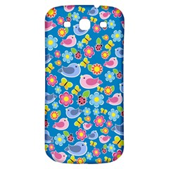 Spring pattern - blue Samsung Galaxy S3 S III Classic Hardshell Back Case