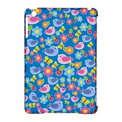 Spring pattern - blue Apple iPad Mini Hardshell Case (Compatible with Smart Cover)