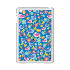 Spring pattern - blue iPad Mini 2 Enamel Coated Cases