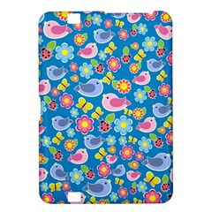 Spring pattern - blue Kindle Fire HD 8.9